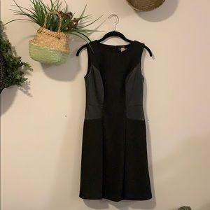 Black Leather Panel Dress